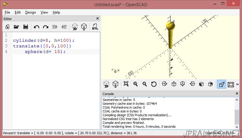 OpenSCAD - The programmers Solid 3D CAD Modeller - jpralves net
