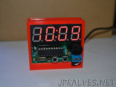 C51 4 Bits Digital Electronic Clock Desk Case / Stand