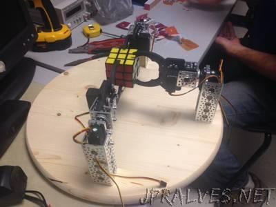 An FPGA-Based Robotic Rubik's Cube Solver