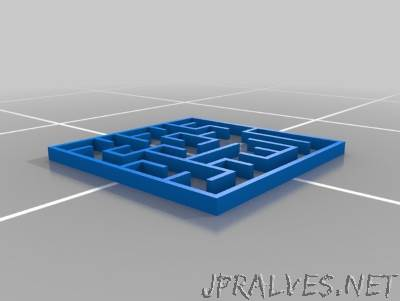 EllerSCAD Maze Generator