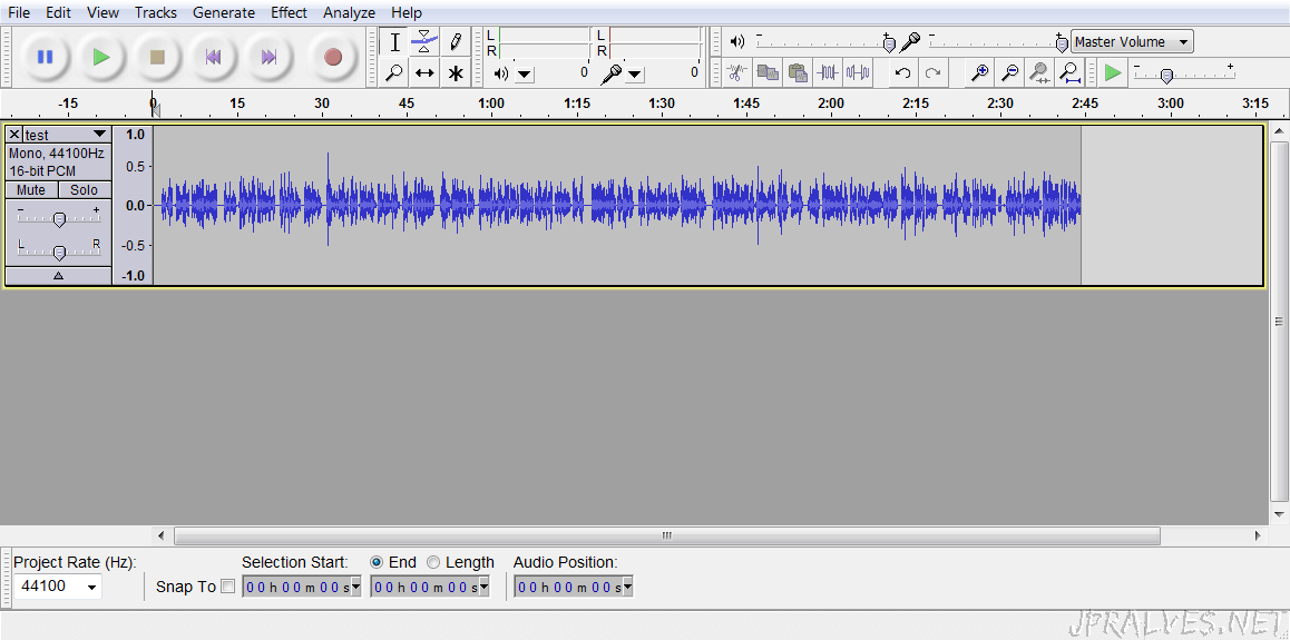 OpenSource_Audacity_screenshot