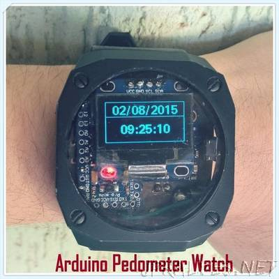 Arduino Watch With Altitude, Temperature, Compass And Pedometer!
