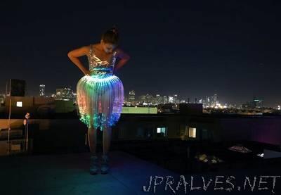 LED Fiber Optic Jellyfish Skirt