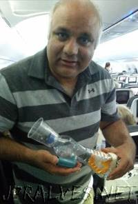 Medical MacGyver to the rescue! Hero doctor saves toddler suffering asthma attack on flight by building makeshift medical device out of plastic bottle