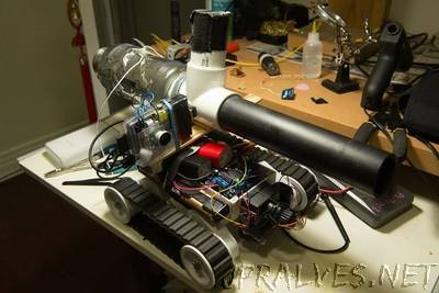 PiTank - A web controlled tank with cannon and live video stream