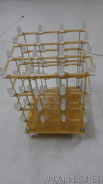 Build a LED Cube 4x4x4 in less than 3 hours