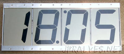 "LCD clock with 4"" display"