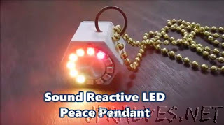 Reachargeable Sound Reactive LED Peace Pendant
