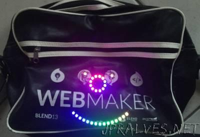 Feather32u4LE + WS2812B = Glowing Bag