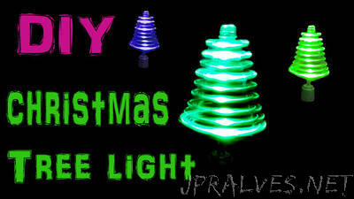 Make Rotating Christmas Tree Light Using LED's and Toy Motor