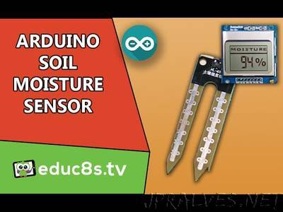 Using the Soil Moisture Sensor along with a Nokia 5110 LCD display