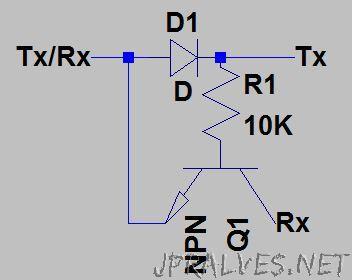 Half duplex UART from single AVR pin