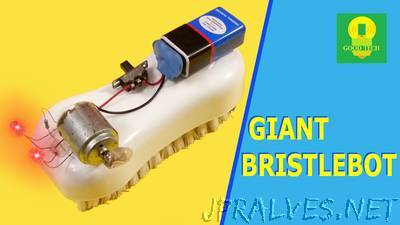 How to make a Giant Bristlebot