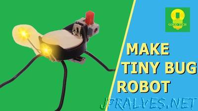 How to make a Tiny Bug Robot at home