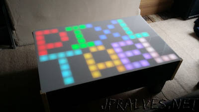 RGB LED Pixel Touch Reactive Gaming Table