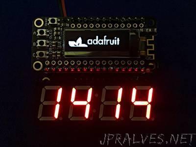 7 Segment Display Internet Clock
