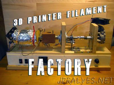 Build your own 3d printer filament factory