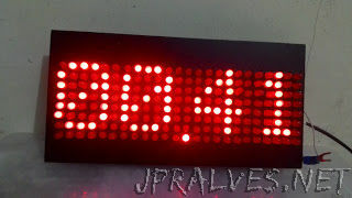Made Clock Matrix With 192 LED