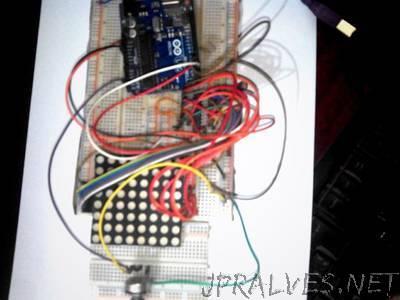 Arduino Ping pong with 8*8 Dot matrix & Max7219