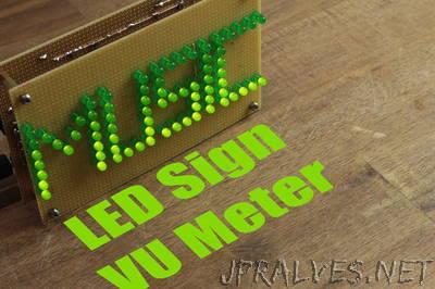 Make Your Own LED Sign VU Meter