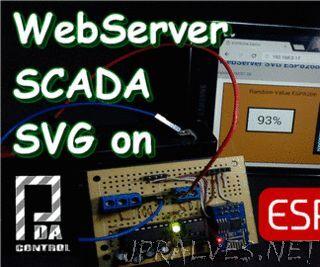 Web Server Scada SVG ESP8266 Random value with 6V Battery