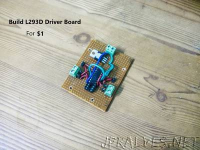 Build L293D Dual Motor Driver Board for Arduino