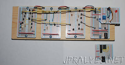 LM741 Op Amp on a Breadboard