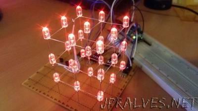DIY 3x3x3 LED Cube for Arduino Nano+