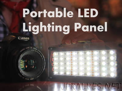 DIY Portable LED Lighting Panel