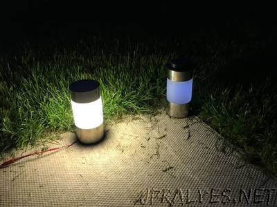 Wifi controlled Garden light with ESP8266