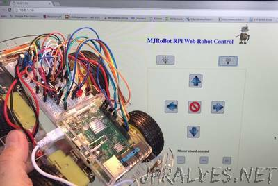 IoT - Controlling a Raspberry Pi Robot over internet with HTML and shell scripts only
