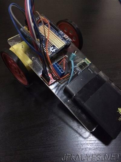 Simple arduino car using HC-06 Bluetooth Module