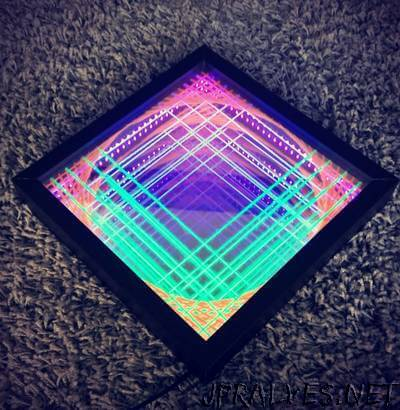 Infinity Mirror UV String Art