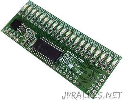 Bargraph Voltmeter 0-5V DC range  PIC16F686
