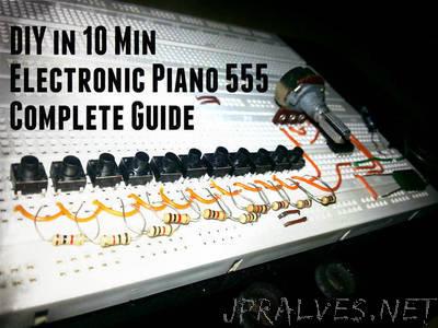 DIY Electronic Piano 555