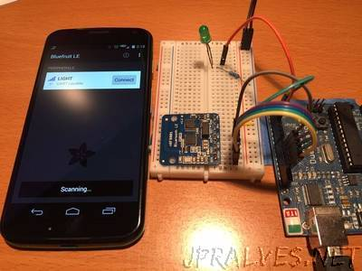 Adding Bluetooth 4.0 to your Arduino Project - Controlled by Smartphone