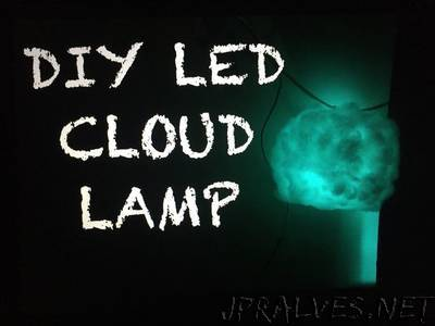Diy LED cloud lamp