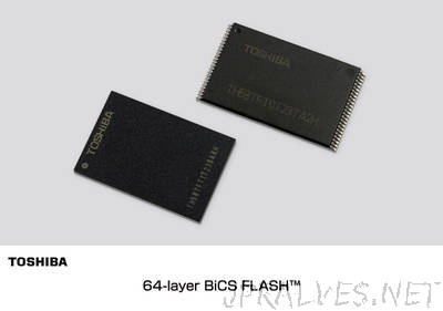 Toshiba Starts World's First Sample Shipment of 64-Layer 3D Flash Memory