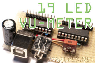 Simple 20 LED VU meter + datasheet guide