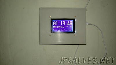 Clock-Calender using DS3231+GLCD+Atmega32
