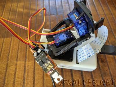 Servo Articulation of Web Cam with ESP8266 01 and Blynk