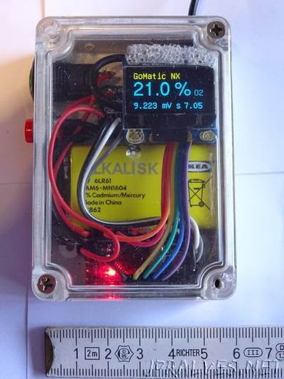 Home made - one hand - Nitrox Analyser Arduino based