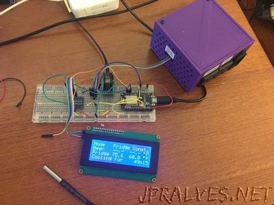 WiFi BrewPi Fermentation Temperature Controller With ESP8266