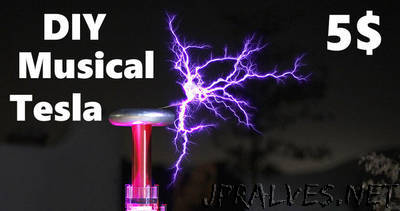 5$ Mini Singing Musical Tesla Coil Music Box !