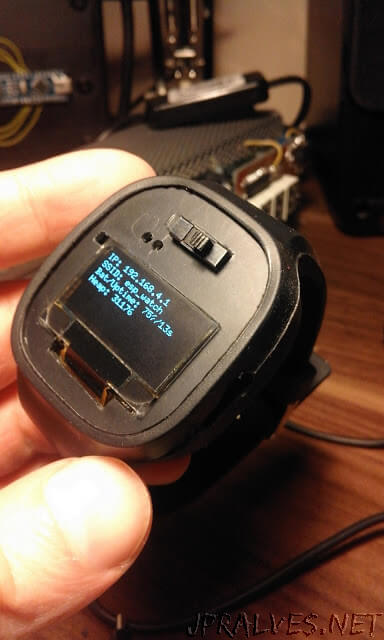 "ESP12e oled ""smartwatch"", honestly it's a wrist display ;)"