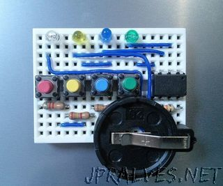 How to make Simon Says using ATtiny13a and mini breadboard.