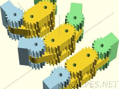 Double geared hinge