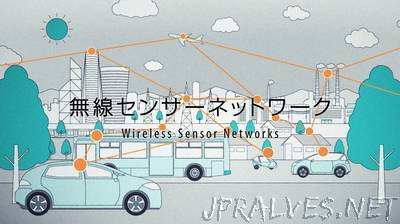 Toshiba's development of low-power multi-hop wireless network technology that can operate on battery power for 10 years