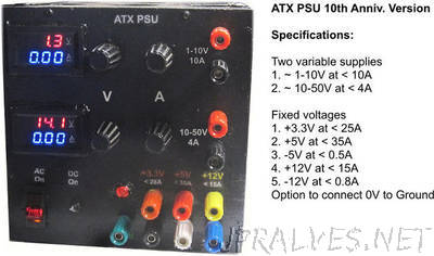ATX based Lab power supply - 10th year anniversary edition