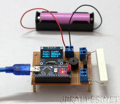 DIY Arduino Battery Capacity Tester - V1.0